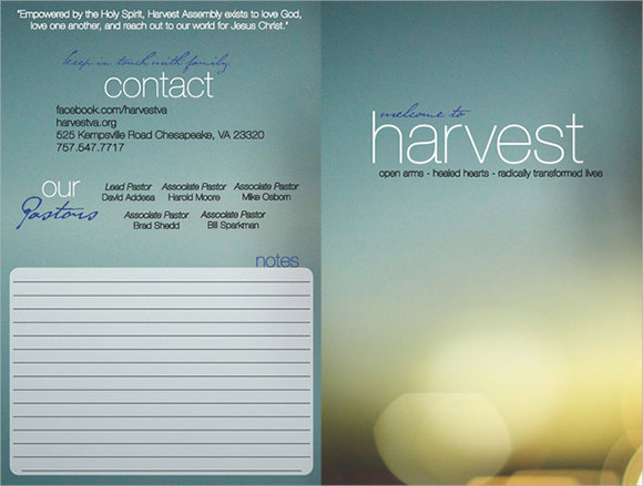 Church Bulletin Templates  Download Documents In Psd  Pdf