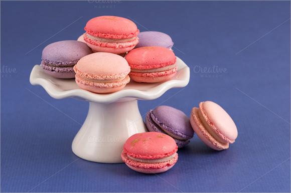 colorful macarons template