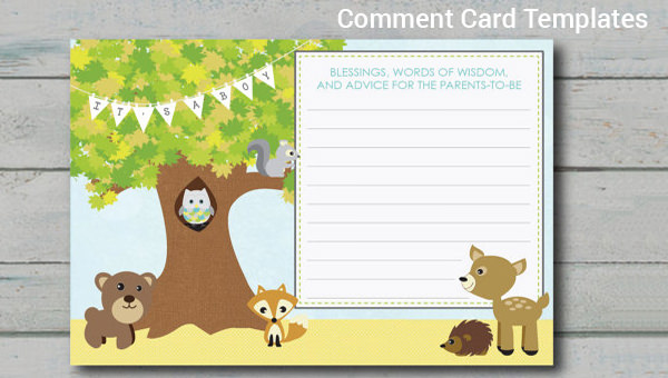 8 comment cards sample templates for Comments html template
