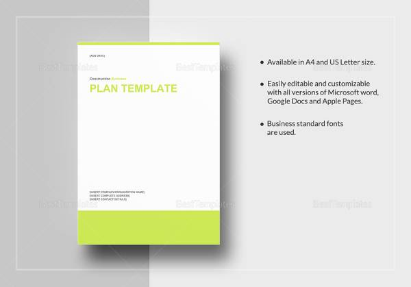construction business plan template 11 download free documents in