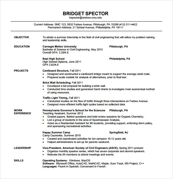 personal statements student affairs civil foreman resume sample