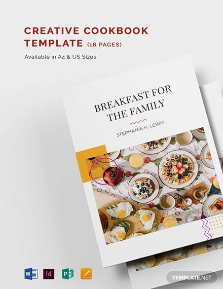 creative cookbook template