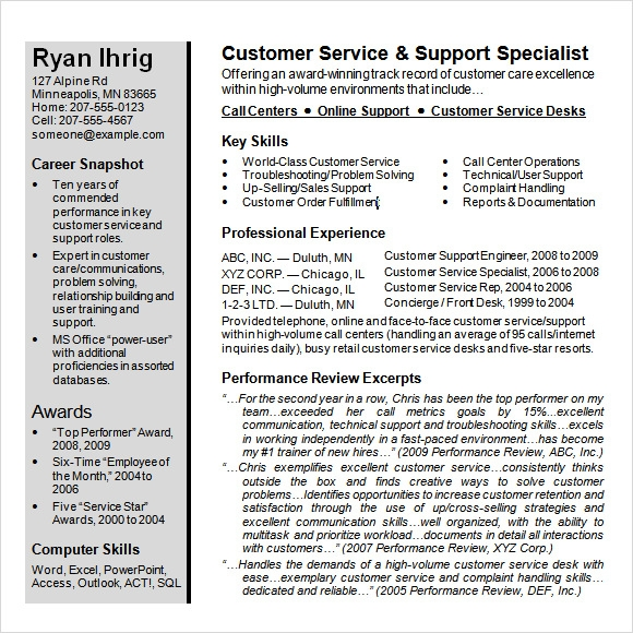 Csr Resume Or Customer Service Representative Resume Include The INPIEQ  Customer Representative Resume