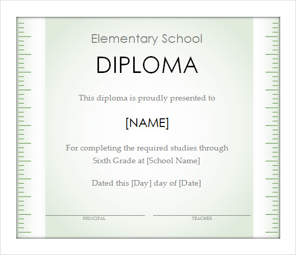 Sample graduation certificate template diploma certificate template 9 download documents in pdf psd yadclub Images