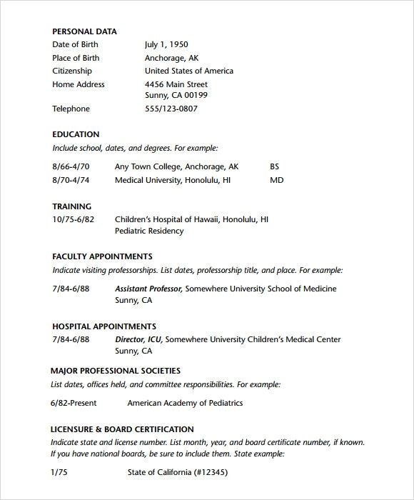 7 doctor resume templates download documents in pdf psd