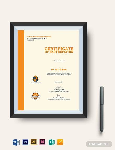editable basketball certificate template