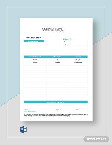 free 36  sample delivery note templates in ms word