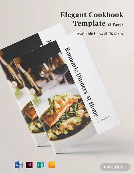 elegant cookbook template