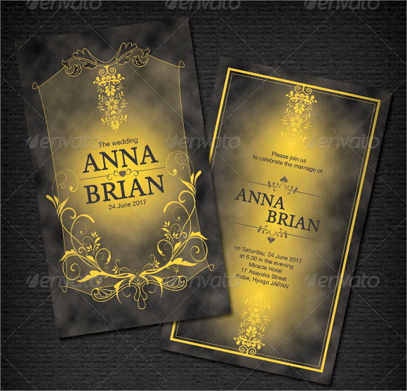 elegant wedding card template