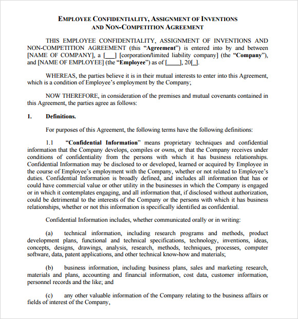 Sample Confidentiality Agreement 6 Documents in PDF – Financial Confidentiality Agreement