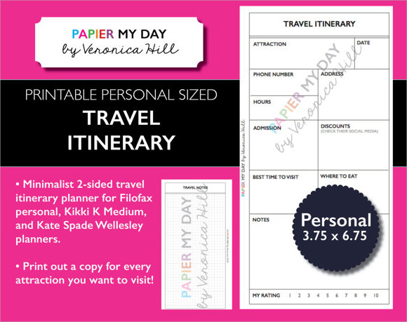 Travel Itinerary Samples  Psd Vector Eps Pdf
