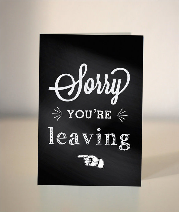 9 sample farewell card templates to download