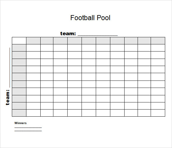 super bowl box template - 8 football pool samples sample templates
