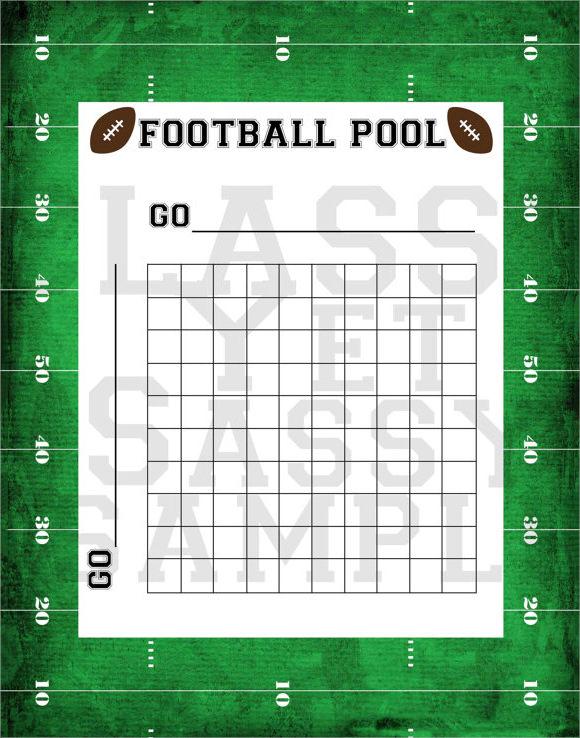 Football Pool Template PDF