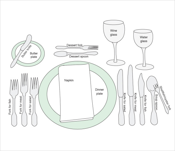 Sample Place Settings  Psd Vector Eps Pdf Word