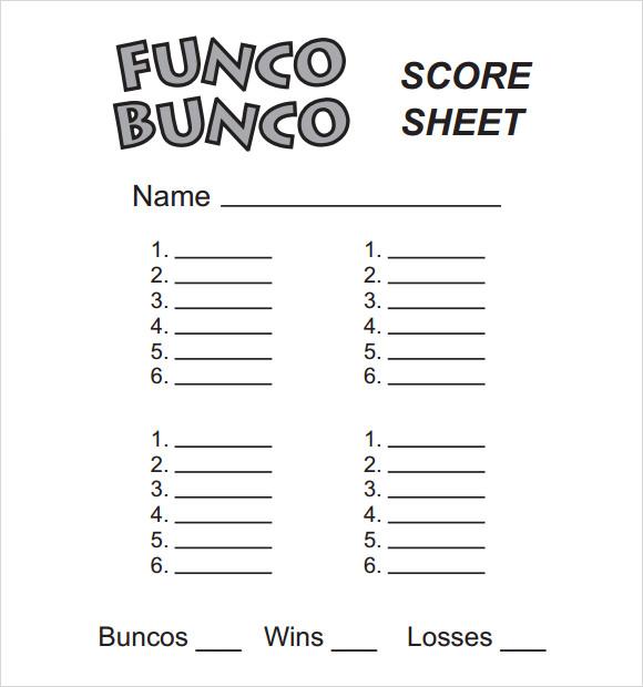 score card template