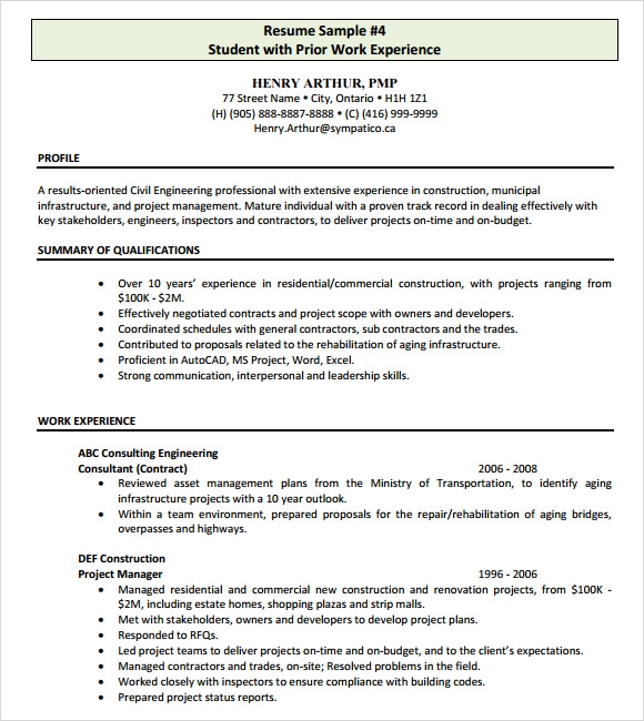 8 construction resume templates free documents