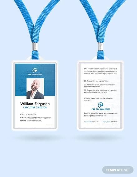 free employee id card template