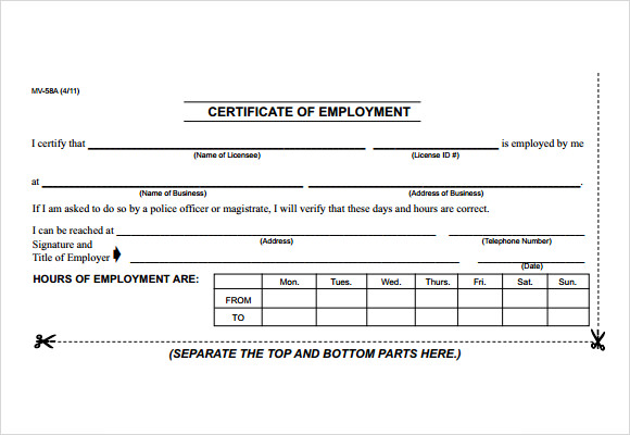 Employment certificate template 20 download free documents in pdf free employment certificate template maxwellsz
