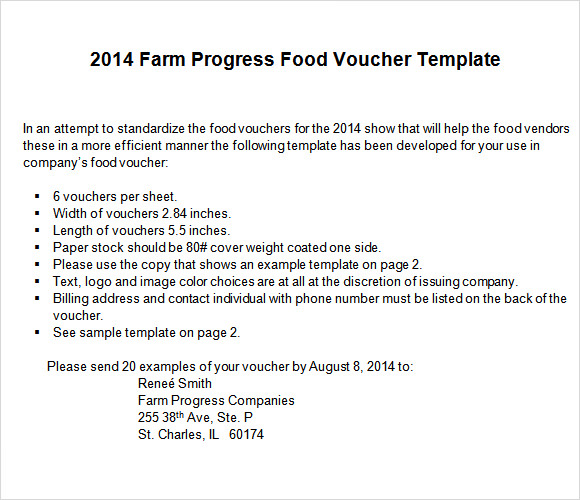 23  sample food voucher templates