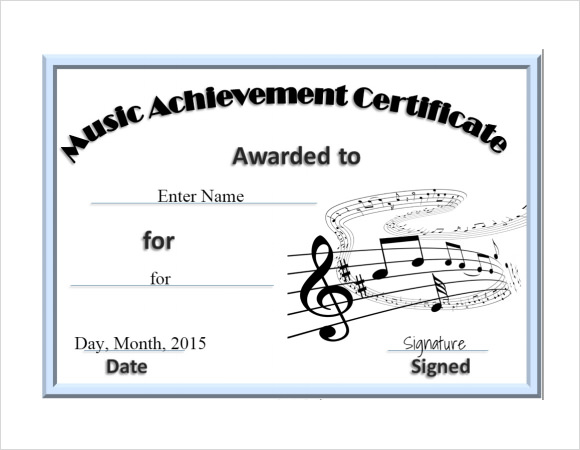 Delighted free music certificate templates ideas resume ideas free music certificate template download choice image yelopaper Images