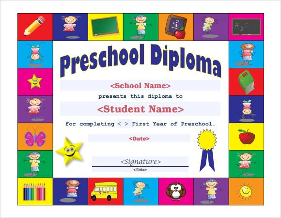 preschool graduation certificate template .