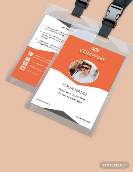 free sample company id card template