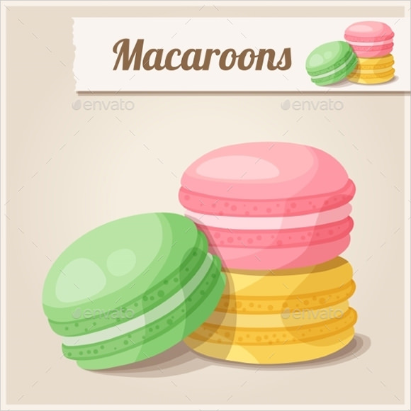 french macaron template