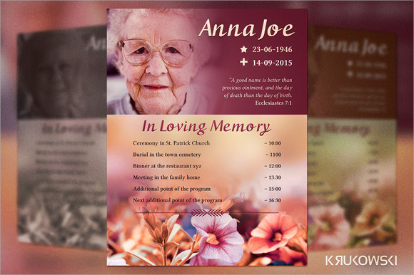 14+ Funeral Notices - Psd, Vector Eps