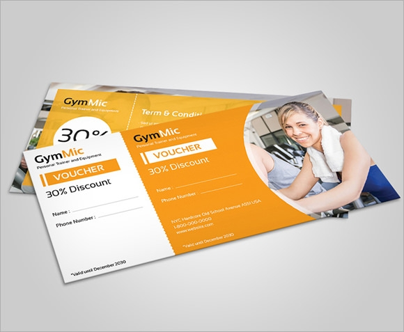 gym gift voucher template