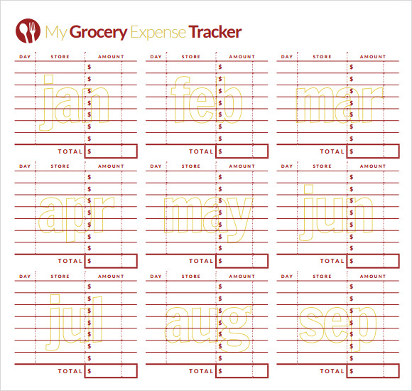 weekly expense tracking template