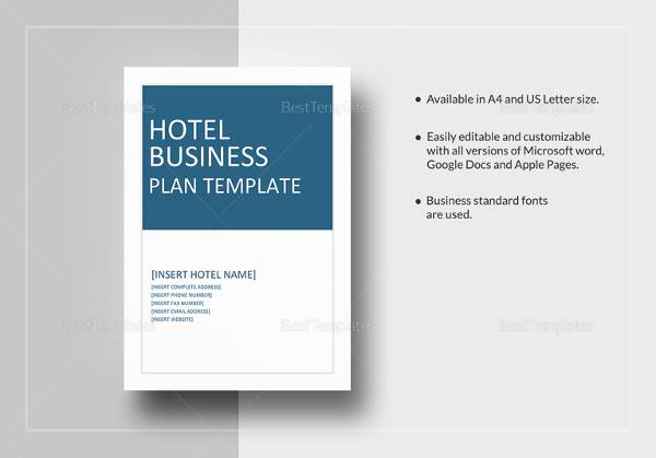 Hotel Business Plan Template Word