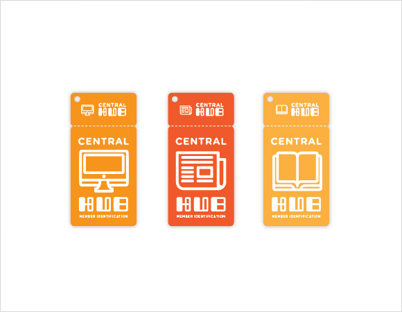 hub library card template