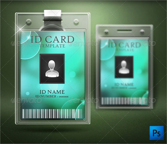 ID Card Template PSD