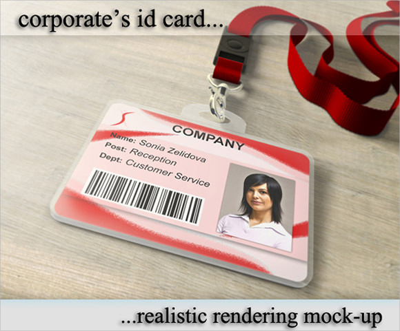 id card template photoshop