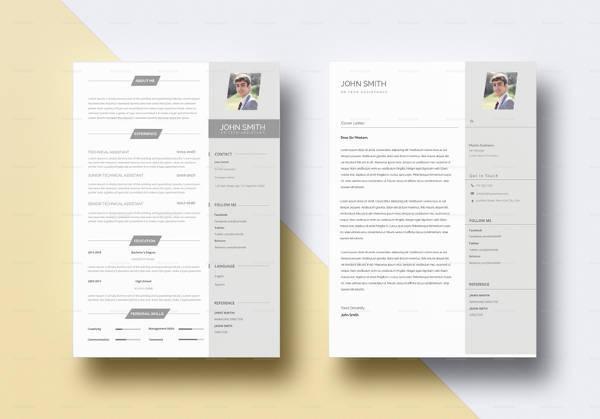 minimal bpo resume in indesign format