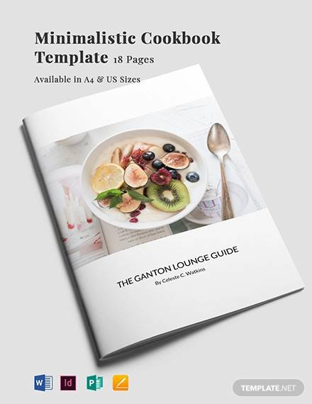 minimalistic cookbook template