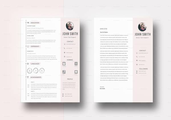 Modern BPO Resume Template In PSD