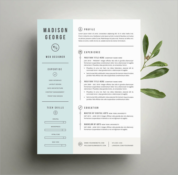 resume template sample modern resume templates in word with good