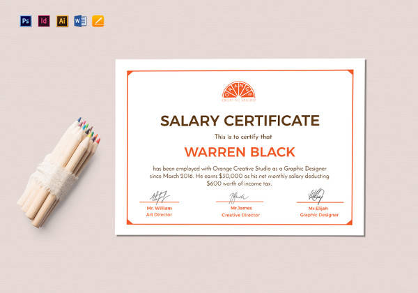 monthly salary certificate template1