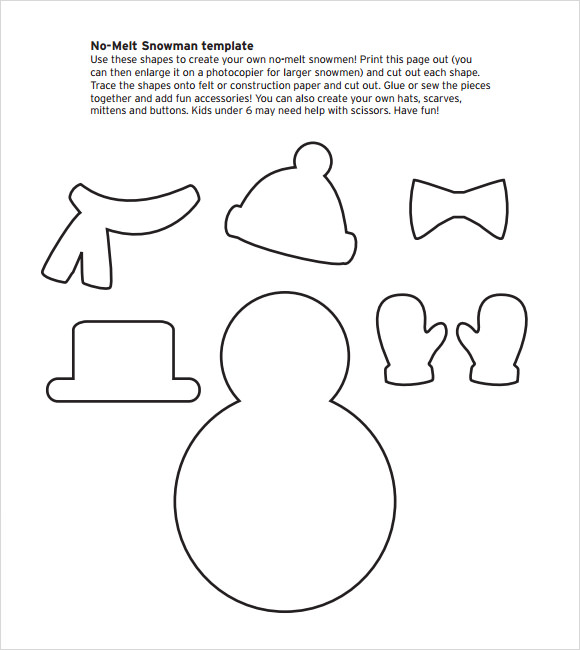 Snowman Template - 9+ Download Documents in PDF , PSD | Sample ...