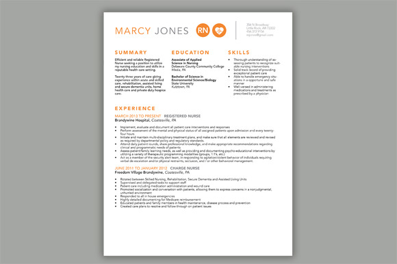 nurse resume cover letter template