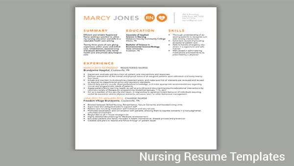 FREE 8+ Sample Nursing Resumes in PDF | Word | PSD