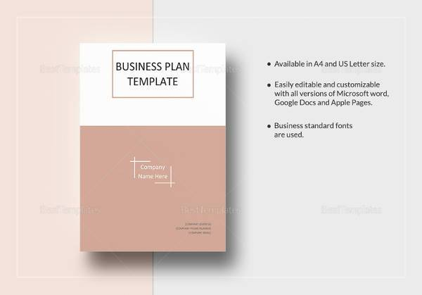 10 one page business plan samples sample templates one page business plan template in word format fbccfo Images