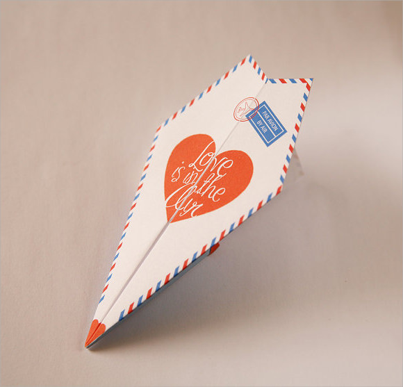 paper airplane classic template