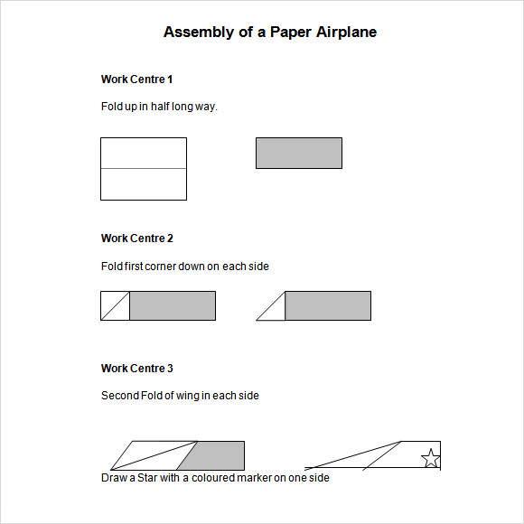 paper airplane template word