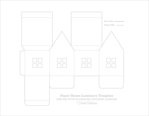 Paper house template 9 download free documents in pdf psd for Paper house templates to print