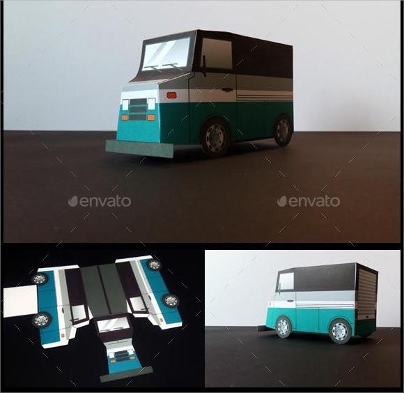 papercraft truck template
