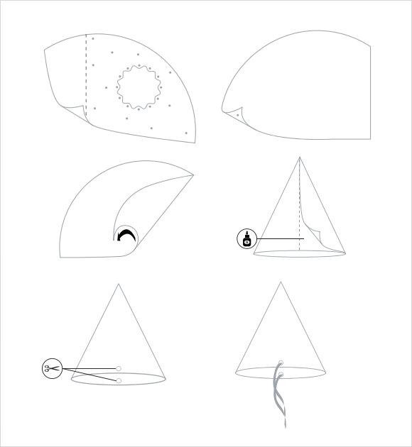 party hat template pdf