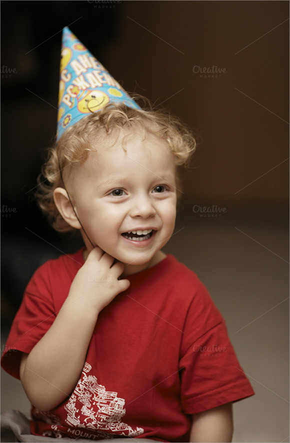 party hat template for kids